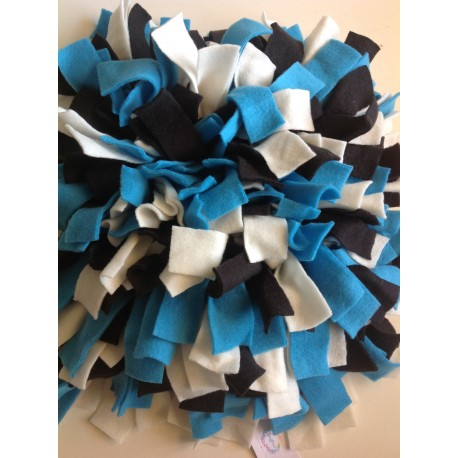 Snuffelmat Blauw Wit Zwart