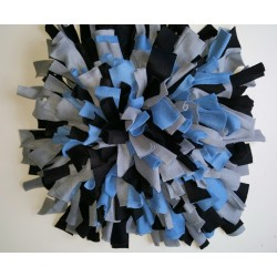 Snuffelmat Blauw Grijs Zwart