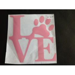 Roze Love met pootje