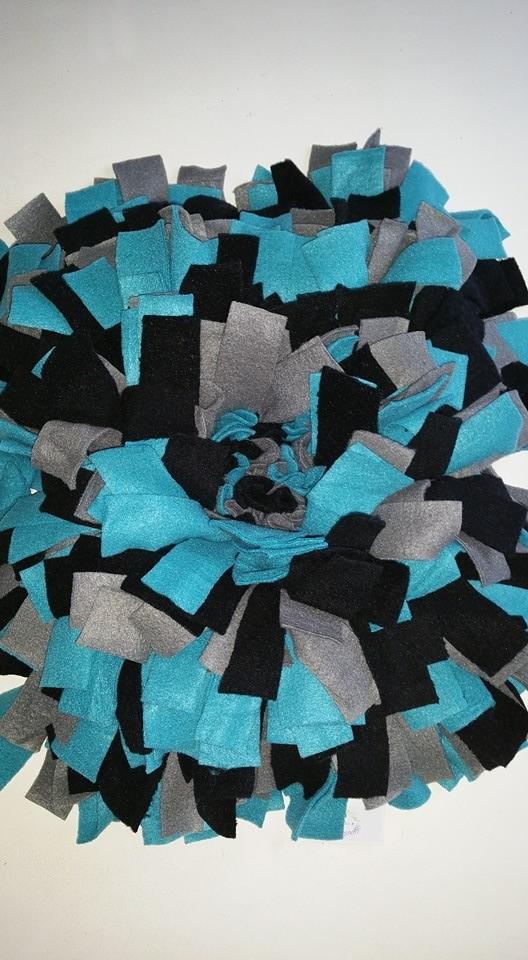 Snuffelmat 2 kleuren blauw